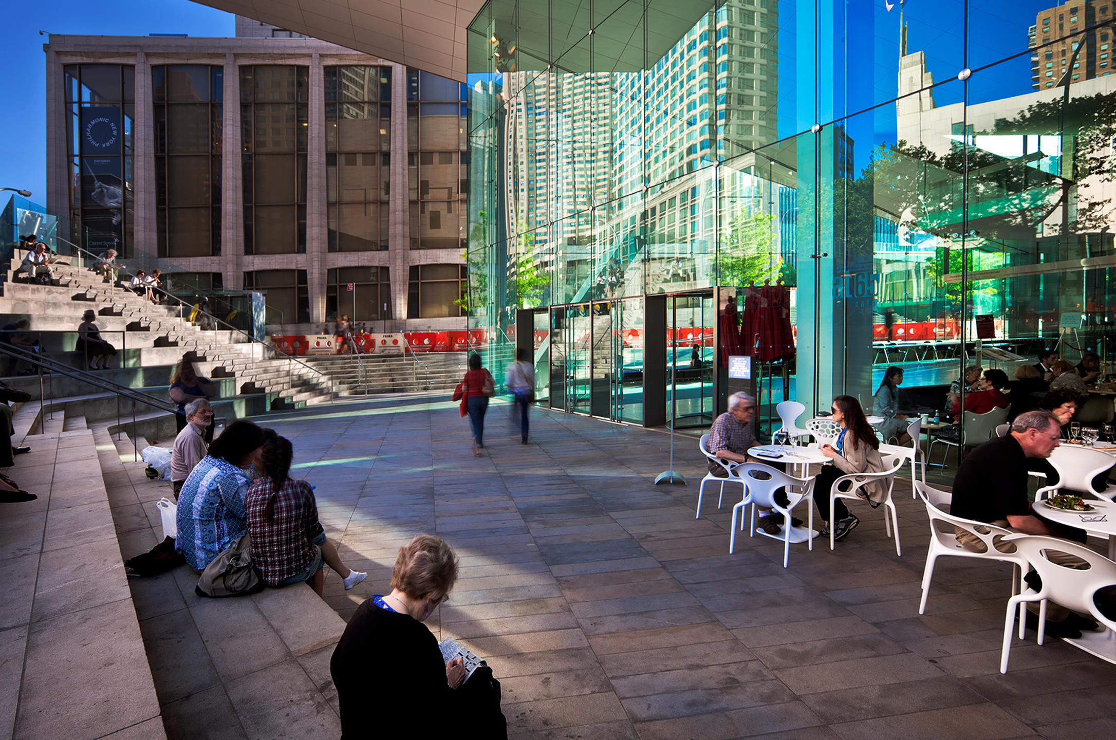 Open area cafe at Alice Tully Hall, NYC Lincoln Center renovated by Diller Scofidio  + Renfro : Miscellanous Projects : New York NY Architectural Photographer | Interior and Exterior