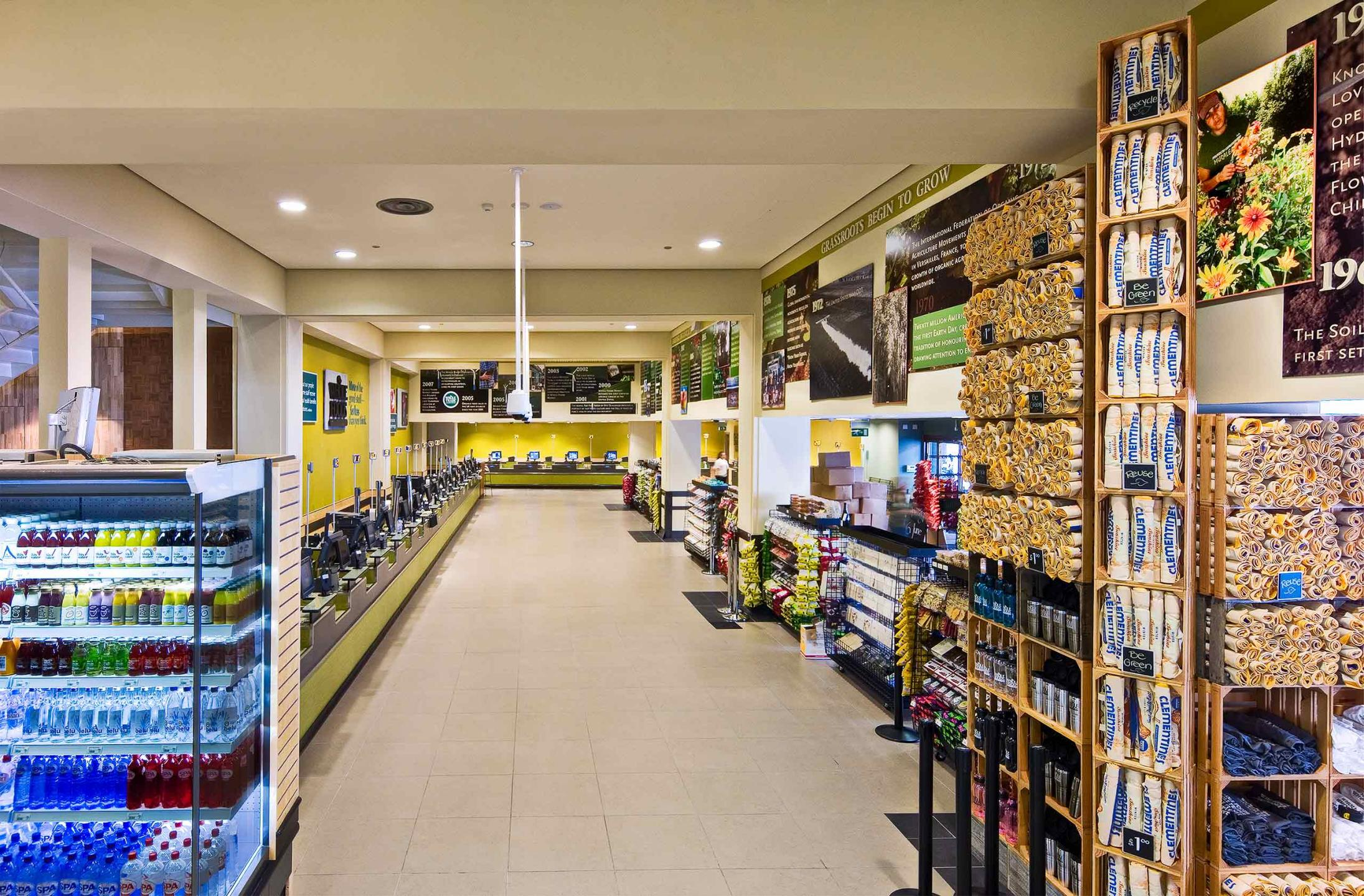 Cashier check out area : Whole Foods Market : New York NY Architectural Photographer | Interior and Exterior