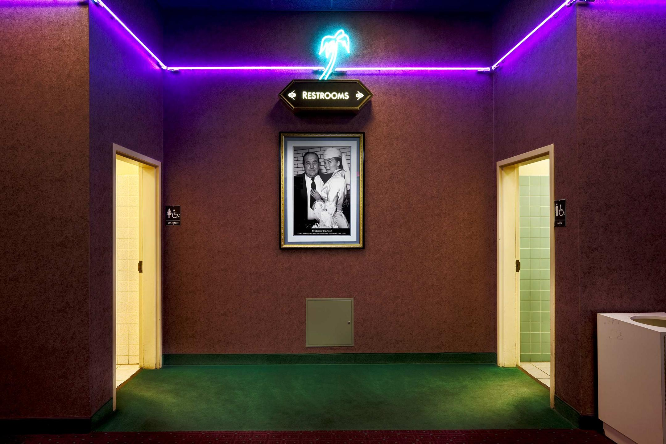 Las Vegas retro looking washroom  : Miscellanous Projects : New York NY Architectural Photographer | Interior and Exterior
