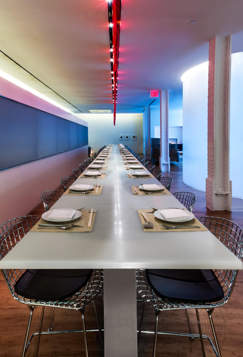 Restaurant 66 - Tribeca NYC by Jean Georges.  Resin table created and manufactured by ATTA, Inc. NY. Rosanne Percivalle and Karen Atta. : Miscellanous Projects : New York NY Architectural Photographer | Interior and Exterior